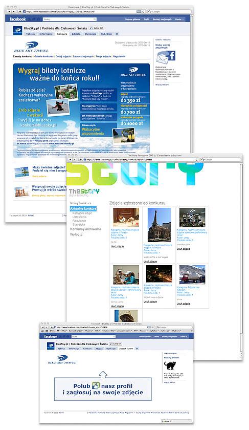 aplikacja dla Blue Sky Travel
